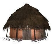 African hut. 3D render of an african hut Stock Images