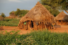 African hut in Ethiopia Stock Photo