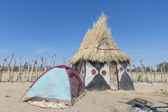 African hut Stock Photography