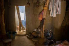 African hut interior Royalty Free Stock Photos