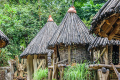 African Hut. The hut is made of natural wood, with a cone type of roof Stock Photography