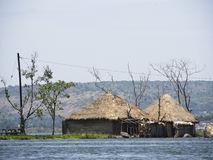 African hut on water Stock Photo