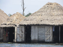 African hut on water Royalty Free Stock Images