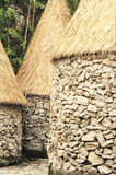 African huts architecture Royalty Free Stock Photo