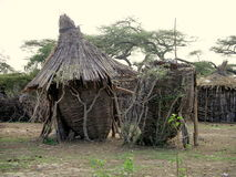 African huts Stock Image