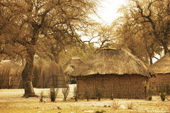 African huts Royalty Free Stock Images