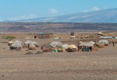 African huts Royalty Free Stock Photos