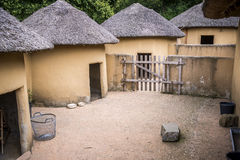 african huts Royalty Free Stock Image