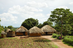African Huts - Zambia. African Huts in Rural Zambia Royalty Free Stock Photography