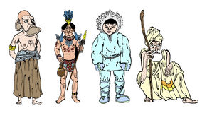 African, Indian, Eskimo and Hind Royalty Free Stock Image