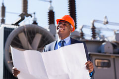 African industrial manager Stock Photos