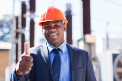 African industrial manager Stock Images