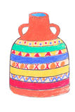 African jar Royalty Free Stock Image
