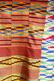 African Kente Cloth. Kente cloth for sale at an outdoor market in Accra Ghana Stock Images