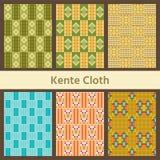 Set of African seamless patterns. Kente Cloth. vector illustration