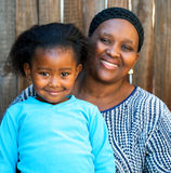 African kid with mother. Royalty Free Stock Images