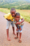 African Kids. Two kids on the street of a township near Durban, South Africa stock images