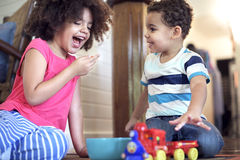 African Kids Play Togetherness Cheerful Concept.  royalty free stock photos