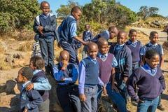 African kids. South African smiling kids posing in school uniform stock photos