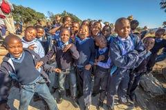 African kids. South African kids posing in school uniform royalty free stock photo