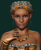 African Lady CA, 3d CG Stock Images