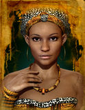 African Lady, 3d CG. 3d computer graphics of a young African woman vector illustration