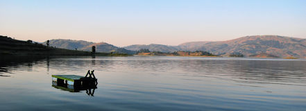 Serene African Lake Royalty Free Stock Photos