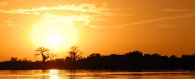 African landscape. Senegal, sine saloum Royalty Free Stock Image