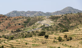 African landscape. Omo Valley. Ethiopia. Royalty Free Stock Photography