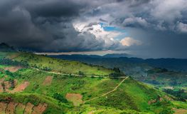 African landscape, rainy season Stock Image