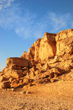 African landscape rock formations. In a sand desert Stock Photo