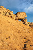 African landscape rock formations in  desert. African landscape rock formations in a sand desert Stock Photo