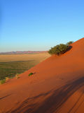 African landscape with sand dunes, Namibia Royalty Free Stock Photography
