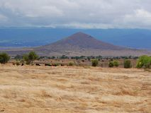 African landscape view of Tanzania Stock Photo