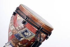 African Latin Djembe Drum Isolated. An African  or Latin djembe conga drum isolated against a white background Royalty Free Stock Photo