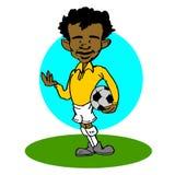 African,Latino soccer player cartoon Stock Photography