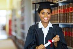 African law school graduate. Pretty african university law school graduate on graduation day Stock Photos