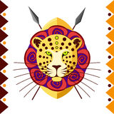 African Leopard. Africa's animal in color pattern vector illustration. Stock Photo
