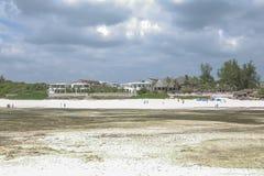 African life. Low tide on Watamu beach Kenya Stock Photos