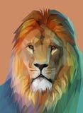 african lion 低多设计 eps10开花橙色模式缝制的rac ric缝的镶边修整向量墙纸黄色 向量例证