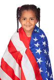 African little girl with a American flag Stock Images