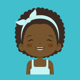 African little girl laughing facial expression Stock Photography