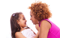 African little girl with mother Stock Photography