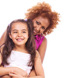 African little girl with mother Stock Photo