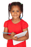 African little girl with a notebook Stock Images