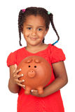 African little girl with a tennis racket Stock Image