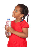African little girl with water bottle Stock Images