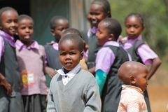 African little school children royalty free stock photos