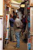 African Local Shopping in Market Royalty Free Stock Photo