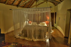 African Lodge Room. Luxury suite in african lodge, Kruger National Park - South Africa Royalty Free Stock Photo